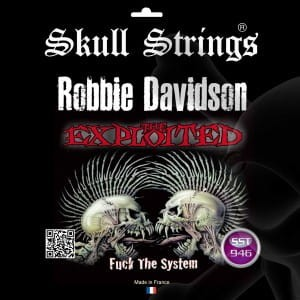 "Skull Strings Robbie Davidson ""The Exploited"" 9-46 - struny do gitary"